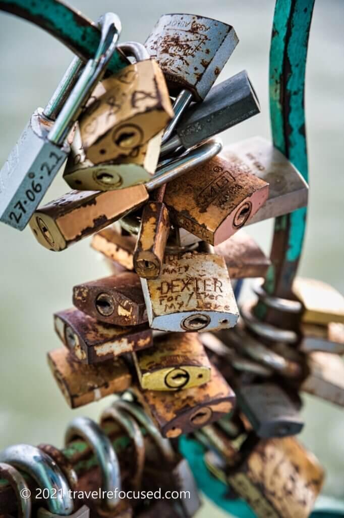 lake chapala love inscribed locks