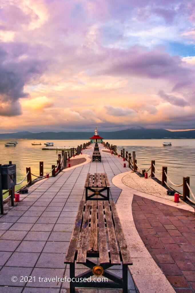 lake chapala sunset pier